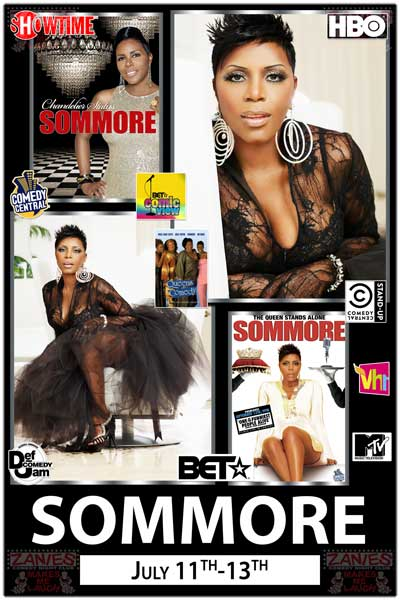 Sommore The Queen of Comedy July 11-13 at Zanies Comedy Club in Nashville, TN