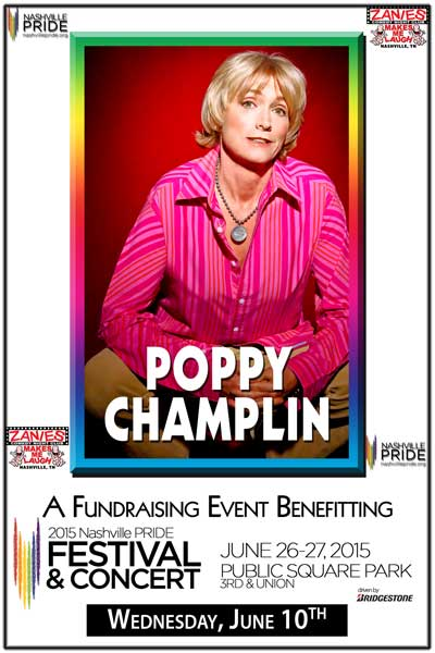 Lightning 100 presents One Night Stand Wednesdays Fundraising Event Benefitting Nashville Pride - Poppy Champlin Wednesday, June 10 2015 Live at Zanies Comedy Club Nashville