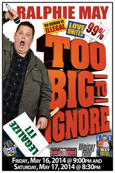 Ralphie May Wild West Comedy Festival Nashville at Zanies Comedy Club on May 16 & 17, 2014