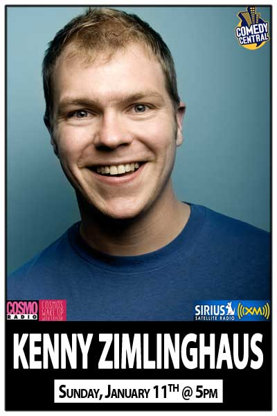 Kenny Zimlinghaus from Cosmo's Wake Up with Taylor Channel 106 live at Zanies Comedy Club Sunday, Jan 16, 2015 @ 5pm