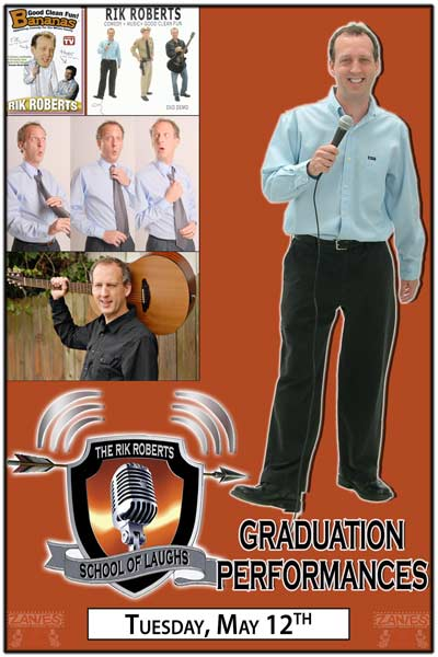 Rik Roberts School of Laughs Comedy Class Graduation Performances Live at Zanies Comedy Club Nashville Tuesday, May 12, 2015