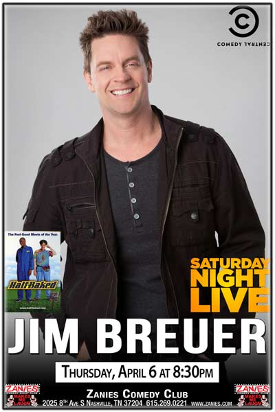Jim Breuer star of Half Baked and much more live at Zanies Comedy Club Nashville One Night Only Thursday April 6, 2017 at 8:30pm
