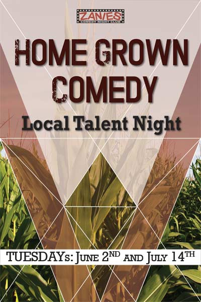 Home Grown Comedy Local Talent Night Tuesdays: June 2 and July 14, 2015 live at Zanies Comedy Club Nashville