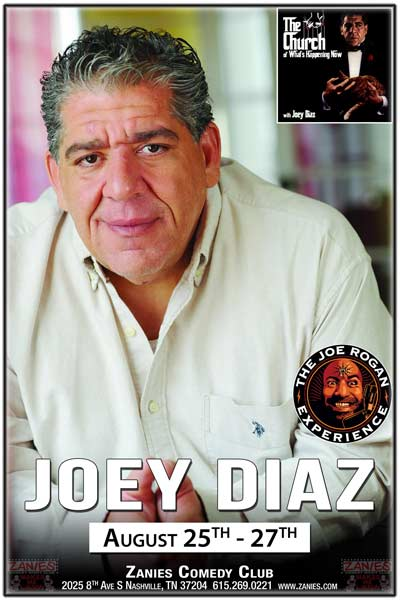 Joey Diaz from the podcasts: The Church of What's Happening Now and The Joe Rogan Experience live at Zanies Comedy Club Nashville August 25-27, 2016