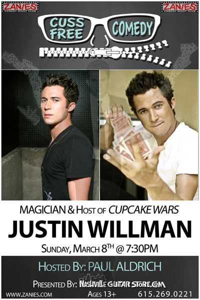 Cuss Free Comedy with Justin Willman live at Zanies Comedy Club March 8, 2015 and also March 5-7, 2015