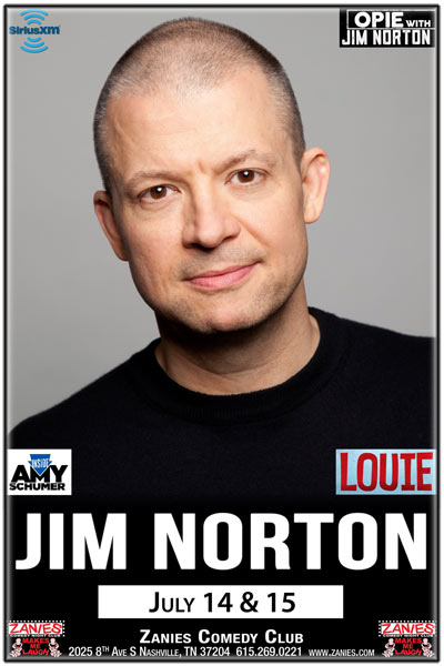 Jim Norton from Opie with Jim Norton on SiriusXM live at Zanies Comedy Club Nashville July 14 & 15, 2017