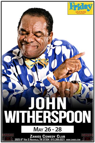 John Witherspoon LIVE at Zanies May 26-28, 2017