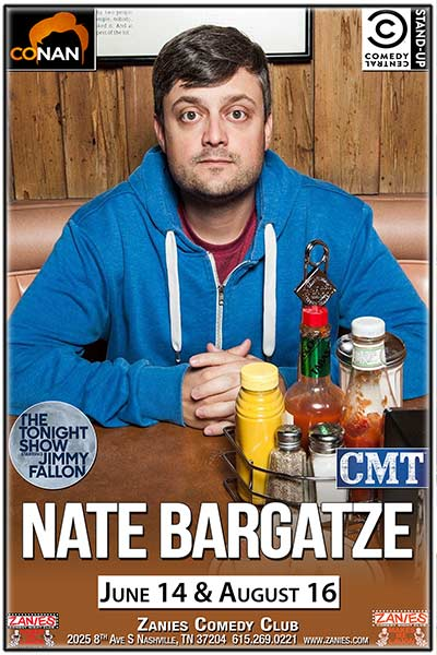 Nate Bargatze LIVE at Zanies Wednesday, June 14, 2017