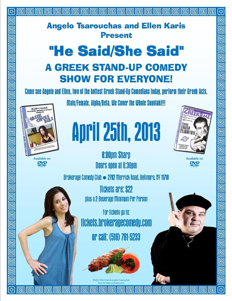 GREEK STANDUP COMEDY SHOW FOR EVERYONE  SPECIAL EVENT