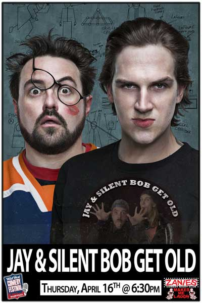 JAY & SILENT BOB GET OLD 6:30pm Thursday, April 16, 2015 live at Zanies Comedy Club