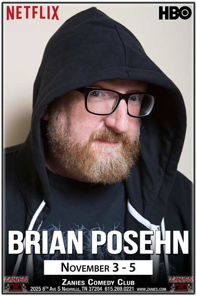 Brian Posehn from Netflix, HBO and much more live at Zanies Comedy Club November 3-5, 2016