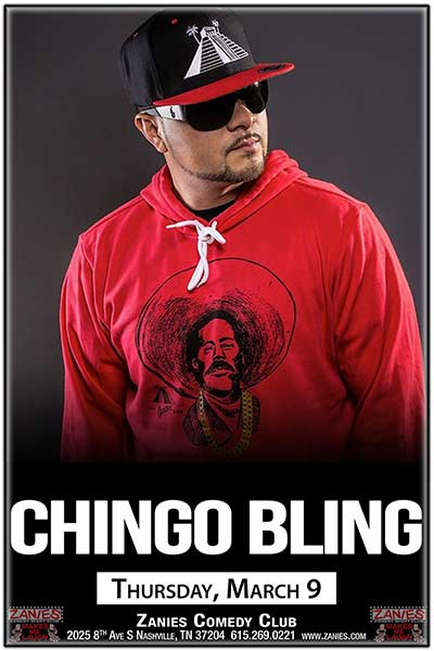 Chingo Bling live at Zanies Comedy Club Nashville Thursday, March 9, 2017