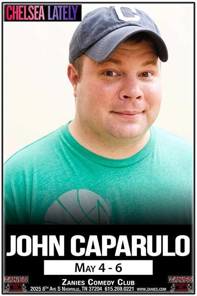 John Caparulo live at Zanies Comedy Club Nashville May 4-6, 2017