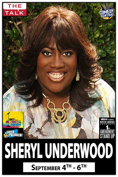 Sheryl Underwood Live from CBS' The Talk and Live at Zanies Comedy Club Nashville Sept 4-6, 2015