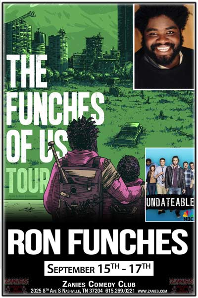 Ron Funches from NBC's Undateable live at Zanies Comedy Club Nashville September 15-17, 2016