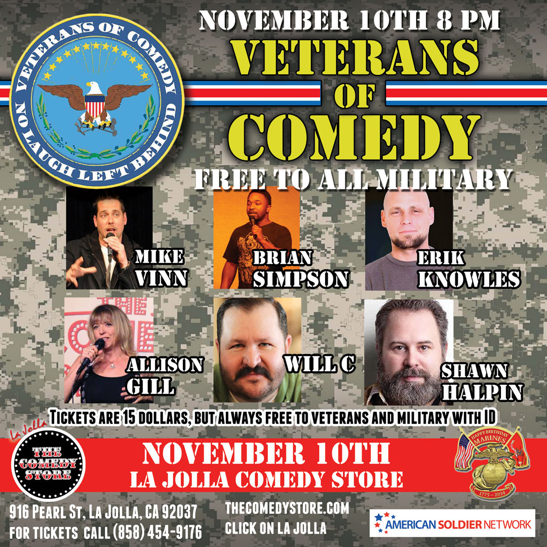 Veterans of Comedy Charity Show