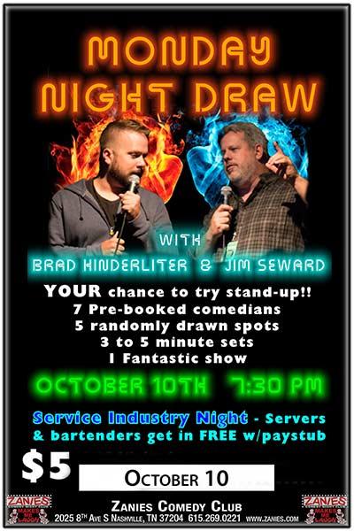 Monday Night Draw with Brad Kinderliter and Jim Seward Monday, October 10 2016