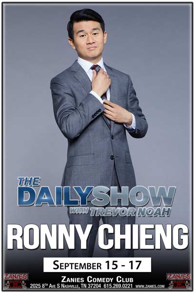 Ronny Chieng from The Daily Show with Trevor Noah live at Zanies Comedy Club Nashville September 15-17, 2016