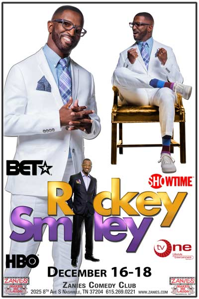 Ricky Smiley live at Zanies Comedy Club Nashville December 16-18, 2016