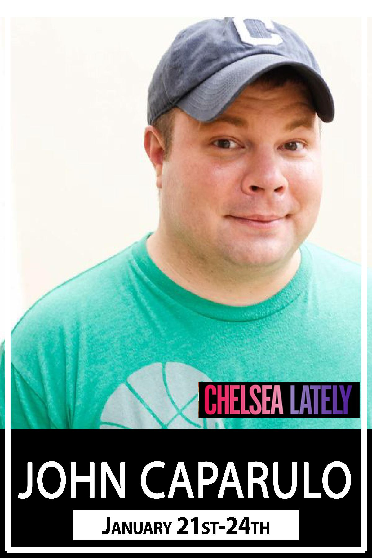 John Caparulo seen on Chelsea Lately and much much more live at Zanies Comedy Club January 21-24, 2016
