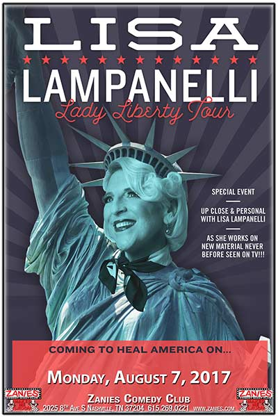 Up Close and Personal with Lisa Lampanelli Comedy's Queen of Mean live at Zanies Comedy Club Nashville Monday, August 7, 2017