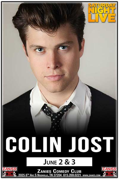 Collin Jost live from Saturday Night Live at Zanies Comedy Club Nashville June 2-3, 2017