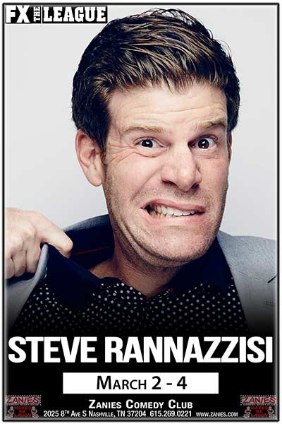 Steve Rannazzisi from FX's The League LIVE at Zanies March 2-4, 2017