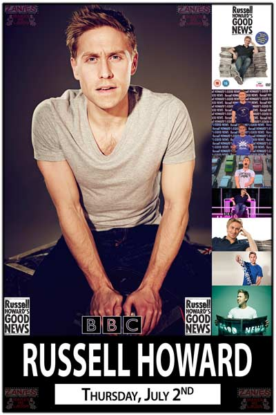 Russell Howard from BBC's Russell Howard's Good News Live at Zanies Comedy Club Nashville Thursday, July 2, 2015