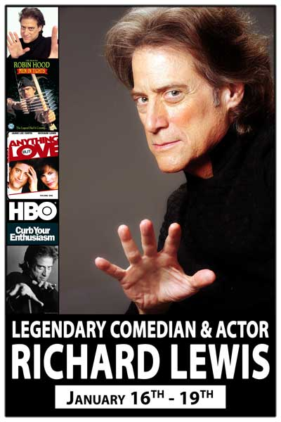 The Legendary Richard Lewis January 16-19 Tickets On Sale Now