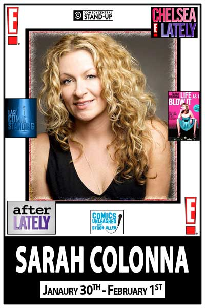 Sarah Colonna LIVE from Chelsea Lately January 30 - February 1, 2014