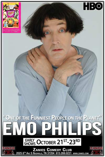 "Emo Philips ""One of the Funniest People on the Planet"" live at Zanies Comedy Club Nashville Early Shows October 21-23, 2016"