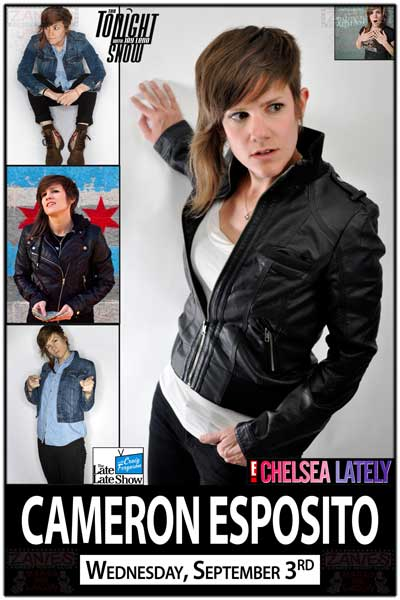 Cameron Esposito Wednesday, Sept 3, 2014 from Leno, Ferguson, Chelsea Lately and much more LIVE at Zanies Comedy Club Nashville