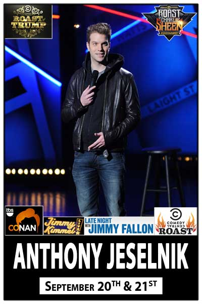 Anthony Jeselnik live from Comedy Central at Zanies Comedy Club Sept 20-21, 2014