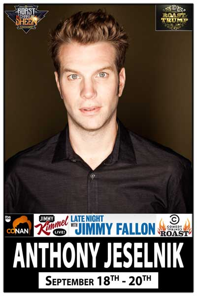 Anthony Jeselnik live from Comedy Central at Zanies Comedy Club-Nashville Sept 18-20, 2014