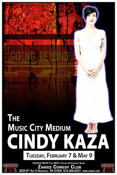 Music City Medium Cindy Kaza LIVE at Zanies in Nashville - February 7, 2017