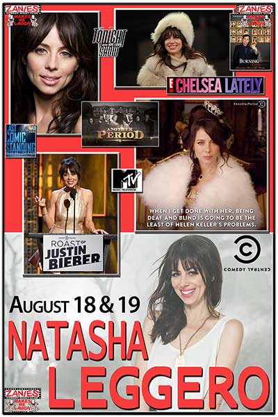 Natasha Leggero LIVE at Zanies August 18 & 19, 2017