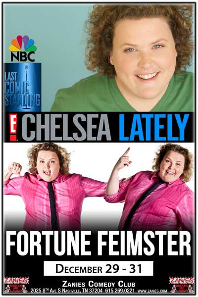 Fortune Feimster from Chelsea Lately, Last Comic Standing and much more live at Zanies Comedy Club Nashville December 29-31, 2016