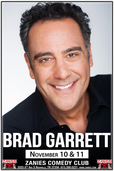 Brad Garrett live at Zanies Comedy Club Nashville November 10 & 11, 2017