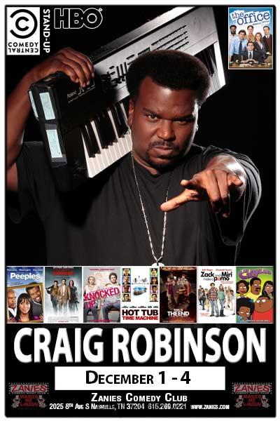Craig Robinson December 1-4, 2016