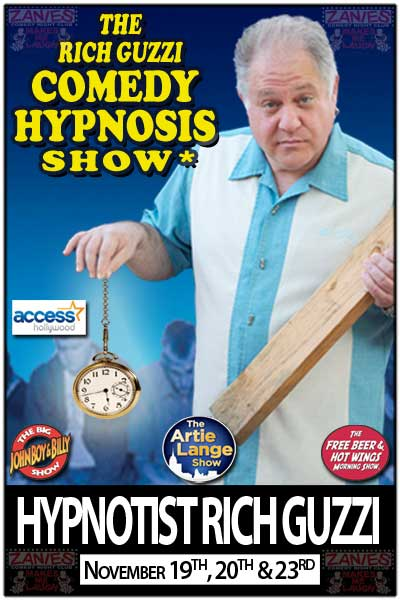The Rich Guzzi Comedy Hypnosis Show Nov. 19, 20 & 23, 2014 Live at Zanies Comedy Club - Nashville