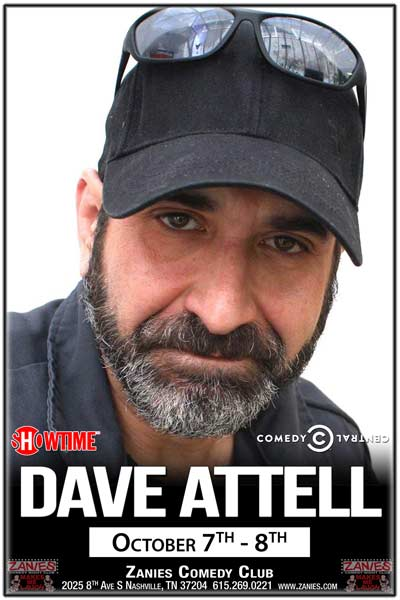 Dave Attell from Comedy Central, Showtime and much more live Zanies Comedy Club Nashville October 7-8, 2016