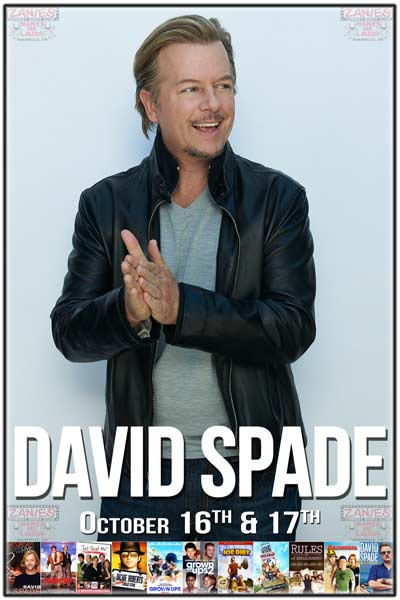 David Spade from Joe Dirt, Grown Ups, Rules of Engagement, Just Shoot Me, Saturday Night Live, Comedy Central and much much more live at Zanies Comedy Club Nashville October 16-17, 2015