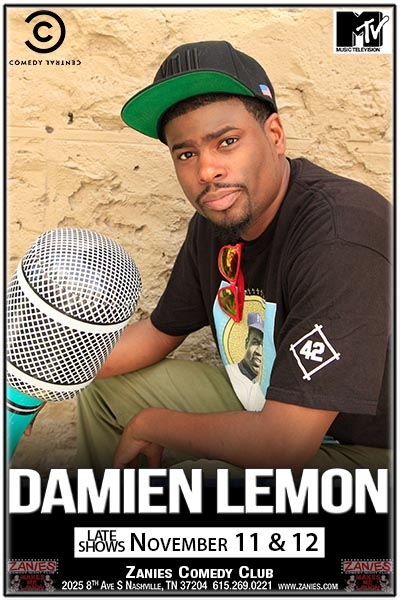 Damien Lemon Live at Zanies: Late Shows November 11&12, 2016