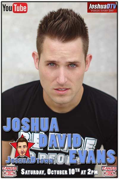 Joshua David Evans JoshuaDtown Internet Personality live at Zanies Comedy Club Nashville Saturday, October 10, 2015 at 2pm