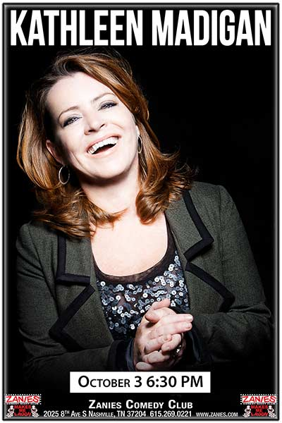 Kathleen Madigan 2017 residency continues at Zanies Comedy Club Nashville October 3, 2017