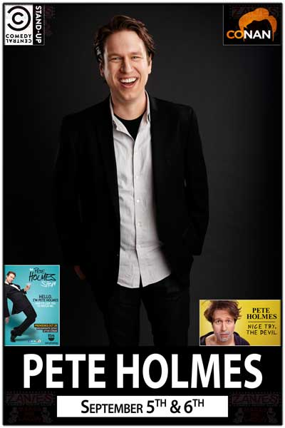 Pete Holmes September 5 & 6, 2014 from The Pete Holmes Show on TBS, Conan, and many Comedy Central Specials and Shows live at Zanies Comedy Club Nashville