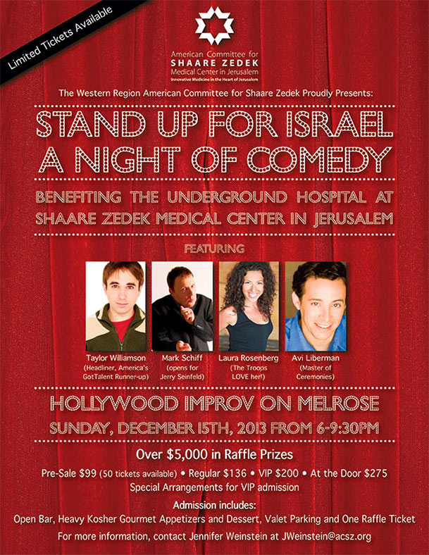 Stand Up for Israel A Night of Comedy with Americas Got Talents Taylor Williamson