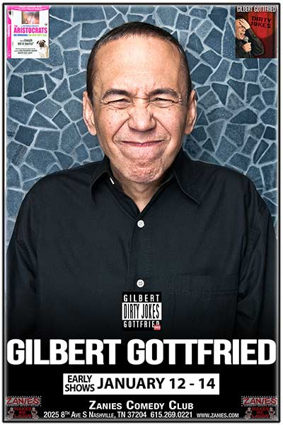 Gilbert Gottfried LIVE at Zanies January 12-14