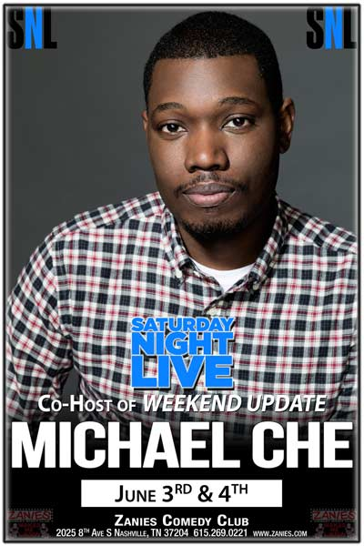 Michael Che Saturday Night Live's Co-Host of Weekend Update live at Zanies Comedy Club June 3 and 4, 2016
