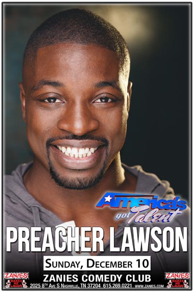Preacher Lawson from America's Got Talent Live at Zanies Comedy Club Nashville December 10, 2017